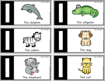 Silly Sentence Builders: Silly Animals 1