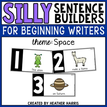 Silly Sentence Builders: Space