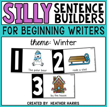 Silly Sentence Builders: Winter