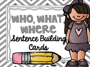 Silly Sentence Building Cards (Who, What, Where)