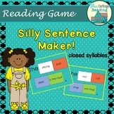 Silly Sentence Maker- Closed Syllables