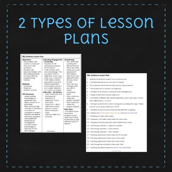 March Scratch Lesson Plan - Silly Sentence