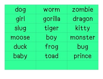 Silly Sentence Sort: Parts of Speech (noun, verb, adjective, adverb BOARD GAME)