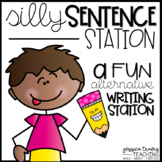 Silly Sentence Station {A Fun Writing Station}