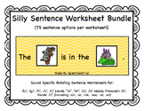 Silly Sentence Worksheet Bundle