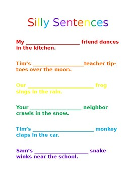 Silly Sentences!