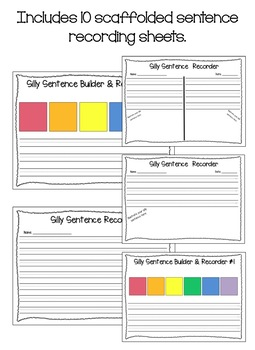 Silly Rainbow Sentences (Differentiated Sets)