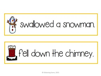Silly Sentences {Christmas & Winter Themed}