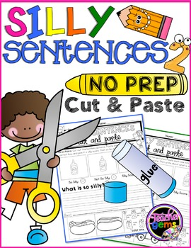 Silly Sentences Cut and Paste Set 2