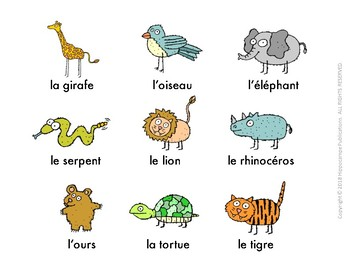 Silly Sentences French Zoo Animals Activity by REAL LANGUAGE right away