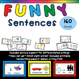 Silly Sentences/Funny Sentences with Picture Support for D