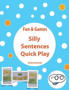 Silly Sentences Quick Play - Parts of Speech Practice