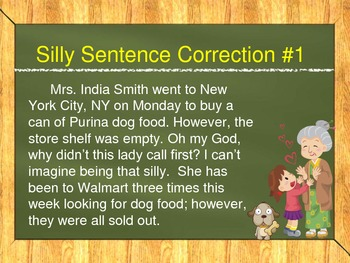 Silly Sentences (Real World Grammar Practice)