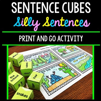 Silly Sentences - Sentence Cubes - Special Education - Reading - Writing