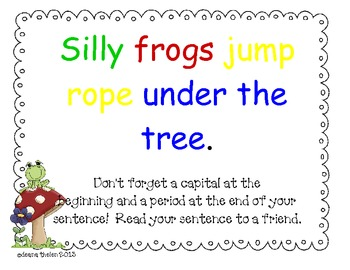 Silly Sentences Spring Word Work  Activity