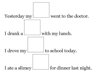 Silly Sentences Starters