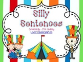 Silly Cat Sentences  {Pocket Chart Stations}