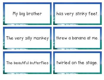 Silly Sentences -a Subject & Predicate activity