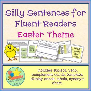 word work easter silly sentences for fluent readers by sandra naufal
