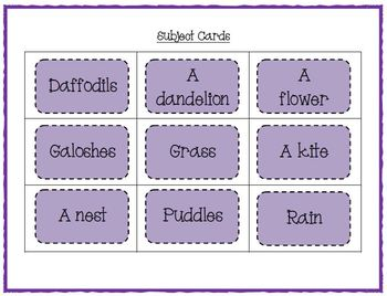 Spring Word Work - Silly Sentences for Fluent Readers