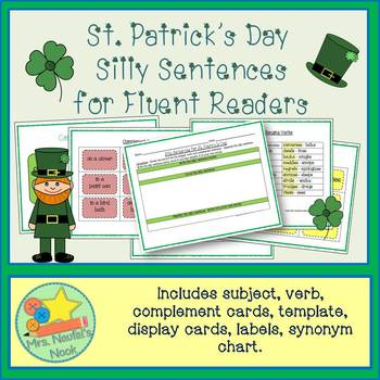 St. Patrick's Day Word Work - Silly Sentences for Fluent Readers
