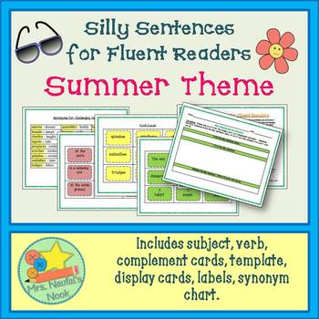 Summer Word Work - Silly Sentences for Fluent Readers