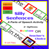Silly Sentences - pdf format for Learning Centers - A Part
