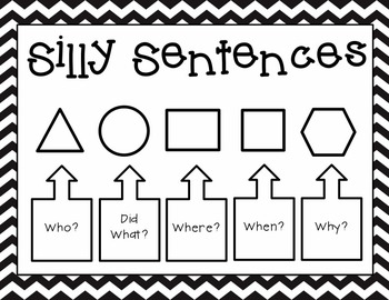 Silly Sentences {Black & White Version}