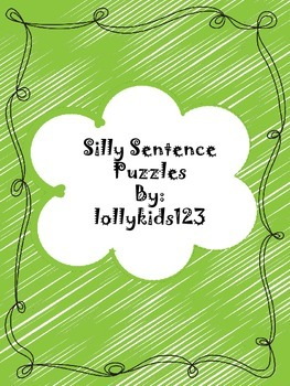Silly Sentences puzzles