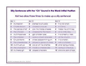 "Silly Sentences with the ""Ch"" Sound"