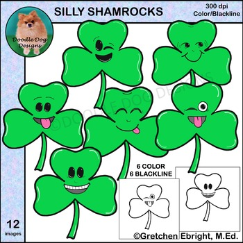 Silly Shamrocks Clip Art Set