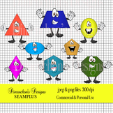 Silly Shape Characters for Math