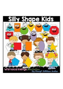 Silly Shape Kids Clipart Collection