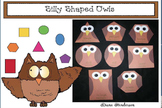 """Free Owl Craft: """"Silly Shaped Owls"""" 2D Shape Craft"""