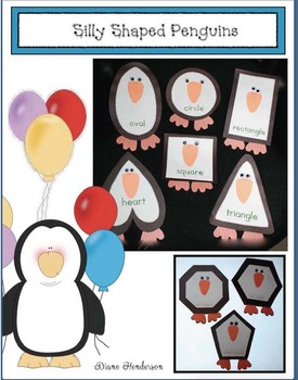 Free Penguin Craft: Silly Shaped Penguins Craftivity