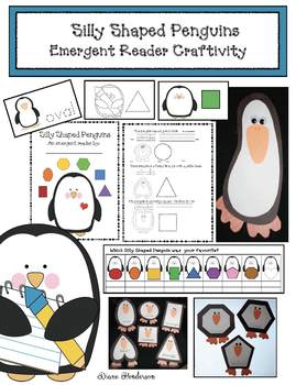 Penguin Activities: Silly Shaped Penguins Emergent Reader & Craft