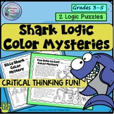 Silly Shark Logic Puzzle, Color Mystery, End of the Year F