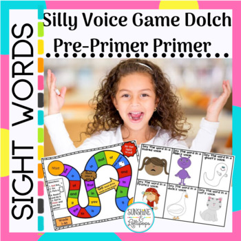 Sight Word Silly Voice Game Pre-primer/Primer Dolch Words (Common Core)