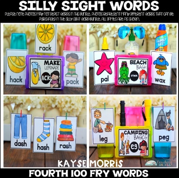 Silly Sight Word Games - Fourth 100 Fry Words