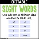 Editable March Sight Word Games