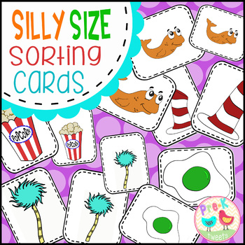 Silly Size Sorting Cards