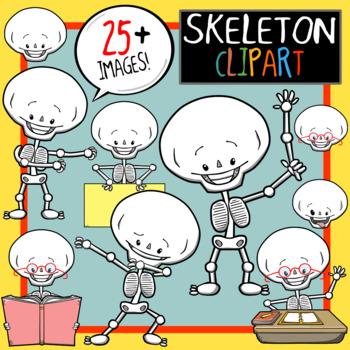 Silly Skeleton Clip Art