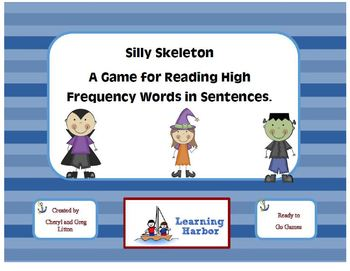 Silly Skeleton Sight Word Sentences