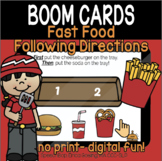 Fast Food Following Direction Fun! (2-steps) - BOOM Cards- Distance Learning