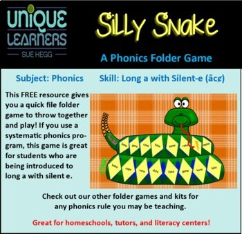 Silly Snake Folder Game -- Generic
