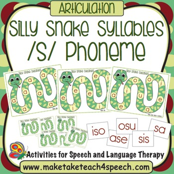 /s/ Phoneme - Silly Snake Syllable Practice