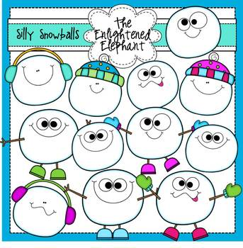 Silly Snowballs Clip Art