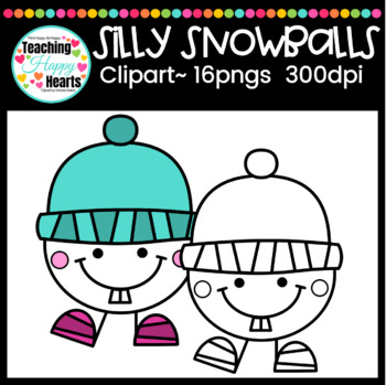 Silly Snowballs Clipart