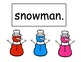 Silly Snowman Colors Pocket Chart Sentences