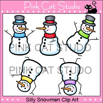 Snowmen Clip Art - Personal & Commercial Use
